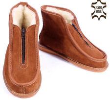 HausSchuhe HüttenSchuhe Stiefel aus Leder & Schafwolle in den Schuhgrößen 36-50