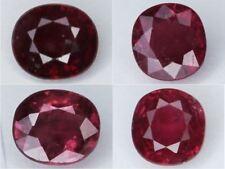 Natural Ruby Cushion Cut Loose Gemstone Many Sizes 6mm 6.5mm 7.5mm VS - SI 1pc