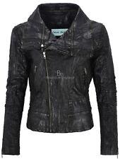 Ladies Crocodile Effect Leather Jacket Black Croc Printed Retro Fashion 5062