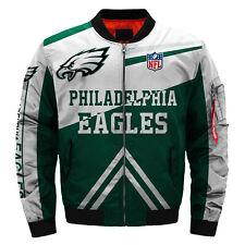 Philadelphia Eagles Pilot Bomber Jacket Flying Tigers Flight Thicken Coat Jacket