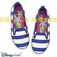 Disney Store New Sneakers Shoes Glitter Stripe Tinkerbell Size 7 8 9 12 1 Girls