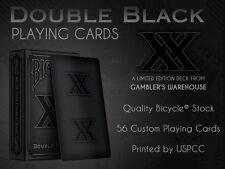 CARTE DA GIOCO BICYCLE DOUBLE BLACK,poker size