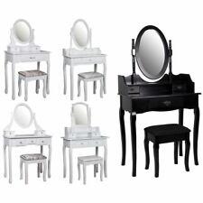 Nishano Dressing Table Drawer Stool Makeup Mirror Bedroom Vanity White Black