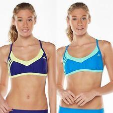 Adidas Colorblock Athletic Bikini Top 2-COLORS (Sz 12 14 16) NWT MSRP $44 SALE!!
