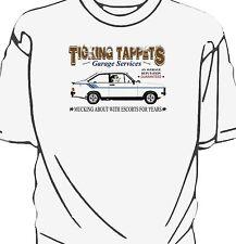 'Ticking Tappets Garage Services' t-shirt.  Ford Escort Mk2 Harrier