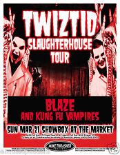 Twiztid 2010 Seattle Concert Tour Poster -Hip Hop