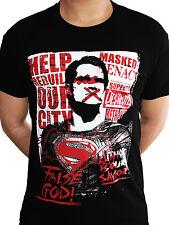 BATMAN Vs. Superman falso Dio uomo di acciaio Justice League DC COMICS T-SHIRT UOMO