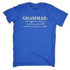 GRAMMATICA sapendo che sei S *** Mens T-shirt Tee Regalo Geek Nerd Maleducato Divertente