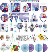 Kinder-Geburtstag Party Deko Feier Fete Motto Disney Frozen Snowflakes