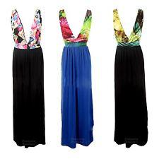 Ladies Multicolour Leopard Animal Strap Summer Stretch Maxi Women's Dress 8-14