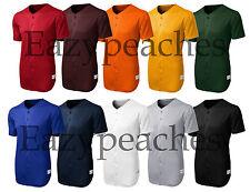 Sport-Tek Mens Dri-Fit Tough Mesh Henley Full Button Baseball Jersey Shirt ST220