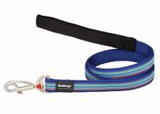 RED DINGO DARK BLUE STRIPE DESIGNER LEAD FOR DOG  / PUPPY