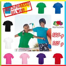 T-shirt, Maglie E Camicie Abbigliamento E Accessori T-shirt Bambino Fruit Of The Loom Maglia Maniche Corte Scuola Recita Bimbi Bimbo