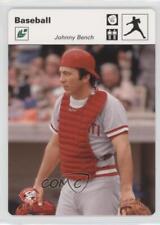 2005 Leaf Sportscasters White Pitching Glove #24 Johnny Bench Cincinnati Reds