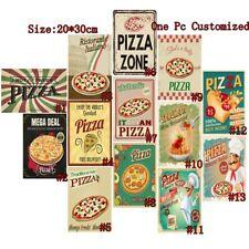 Spaghetti Italian Food Retro Metal Tin Signs Pizza Zone Art Wall Decor Poster
