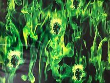 Hidrográficos llameante cráneos Verde Agua Tranfer impresión Hydro inmersión