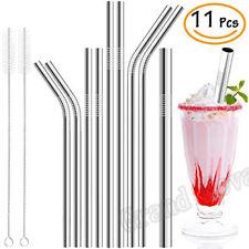 11 Pcs Full Variety Reusable Metal Drinking Straws Stainless Steel Straws