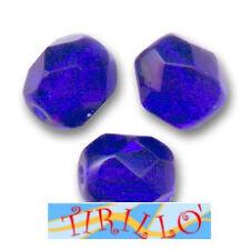 BIGIOTTERIA PERLINE- 20 mezzi cristalli 6mm - blu