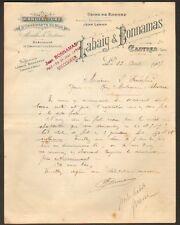 """CASTRES (81) USINE de ROQUES / ORNEMENTS en BOIS """"LABAIG & BONNAMAS"""" en 1907"""