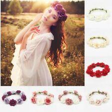 Lovely Lady Wedding Flower Hair Garland Crown Headband Floral Wreath Hairband