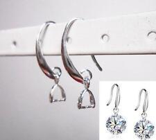 40pcs 925 Silver Filled Earring Hooks Coil Ear Wire DIY Jewelry Make Findings