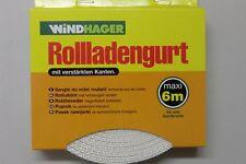 Rolladengurt Gurtband Rollladen 6m Breite 22mm grau Windhager NEU