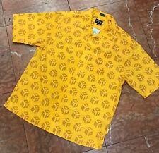 Men's Rocawear Yellow Short Sleeve Button Down Shirt