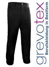 Herren Kellnerhose Kochhose Servicehose Jeanshose stretch schwarz Größe 44-64