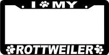 ROTTWEILER DOG PAW PRINT License Plate Frame