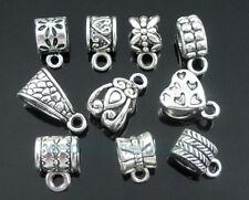 Wholesale Tibetan Silver Mix Bails Bead Fit European Charm Bracelet PickQty ZY08