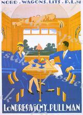 Vintage Londres Vichy Pullman tren Turismo cartel A4/A3/A2/A1 impresión