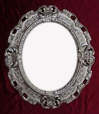 Wandspiegel Spiegel ALTSILBER OVAL 45x38 cm BAROCK Antik REPRO Vintage 345 12**