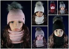 Mütze & Loop im Set Wintermütze Damenmütze Strickmütze Schlauchschal Schal NEU