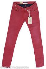 MAISON SCOTCH Jeans skinny Rouge femme La Parisienne Ruby