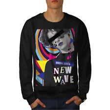 NEW Wave Elegante Moda Uomo Felpa Nuovo | wellcoda
