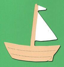 10 Die Cut Barco De Vela Sizzix 9.5 x9.5 Cm Artesanal Vela Regatta tarjeta haciendo Bote