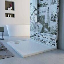 Piatto doccia slim rettangolare h 4 cm effetto pietra bianco varie misure