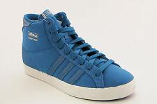 Scarpa da uomo alta celeste Adidas basket profiog sneakers casual stringhe lacci