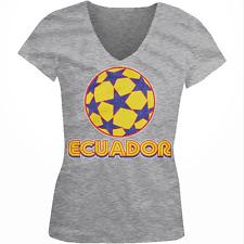 Ecuador Stars Soccer Ball Ecuadorian Country Team Born EC Juniors V-Neck T-Shirt