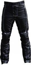 Motorradhose Textil schwarz/weiß