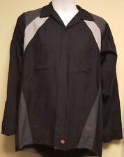 Red Kap Black/Gray Garage Shop Mechanic  Long Sleeve Button Up Shirt
