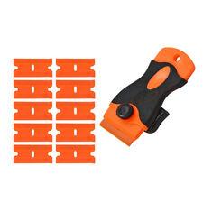 Razor Scraper, 10 pcs Plastic Blades Window Tint Vinyl Tool Car Stickers Removal