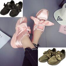 Para Mujeres Rosa/Verde Militar Negro Satinado Moda Tenis Zapatos Atléticos Arco Caminar