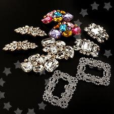 Sparkling Wedding Bridal Diamante Crystal Shoe Clips Lady Party High-Heel Decor