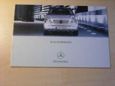 25452) Mercedes M-Klasse Polen Prospekt 2002