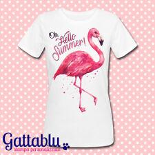 T-shirt donna Oh, Hello Summer! Fenicottero rosa, pink flamingo!