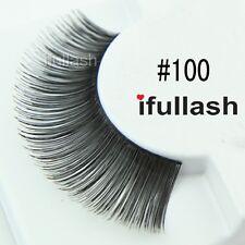 #100  6 or 12 pairs of ifullash 100% human hair Eyelashes- BLACK