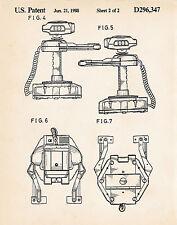 1988 Patent Games Posters Nintendo Wall Art Print Robotic Operating Buddy R.O.B.