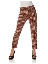 Mandarin Mujer Pantalones Estampados Multicolor Lunares Ligero Pantalón