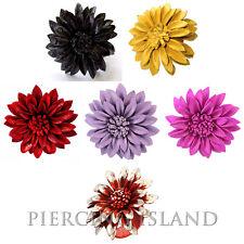 Edler Ring Blume aus Leder Größenverstellbar  * Farbauswahl  möglich* AR115